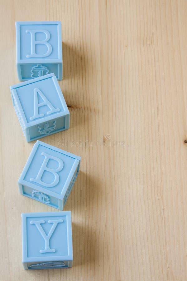 蓝色婴儿块 库存照片