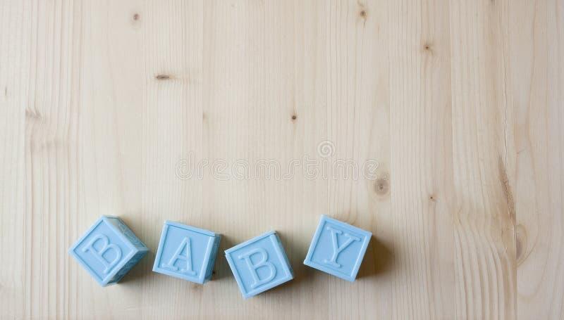 蓝色婴儿块 库存图片