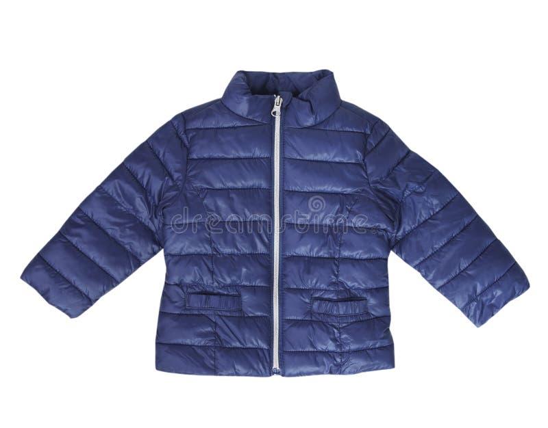 蓝色婴儿外套儿童时尚穿戴隔绝了没人 库存图片