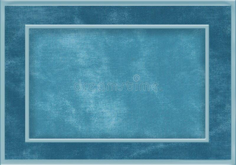 蓝色织品框架 向量例证