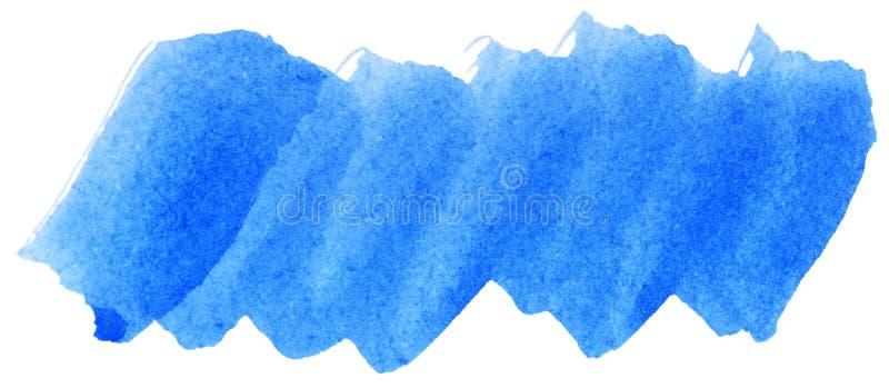 蓝色水彩摘要油漆冲程 免版税图库摄影