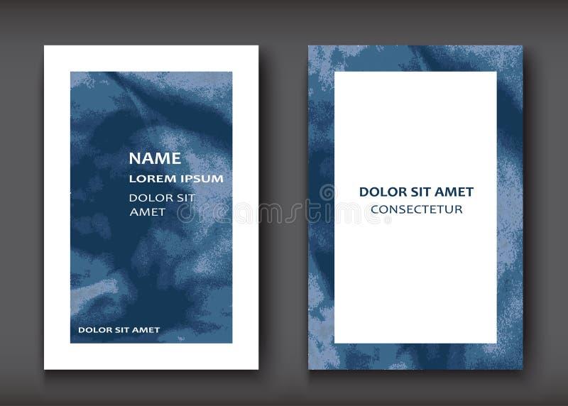 蓝色水彩爆炸形状艺术性的盖子设计集合 deco 向量例证