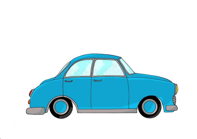 蓝色幻想汽车 向量例证