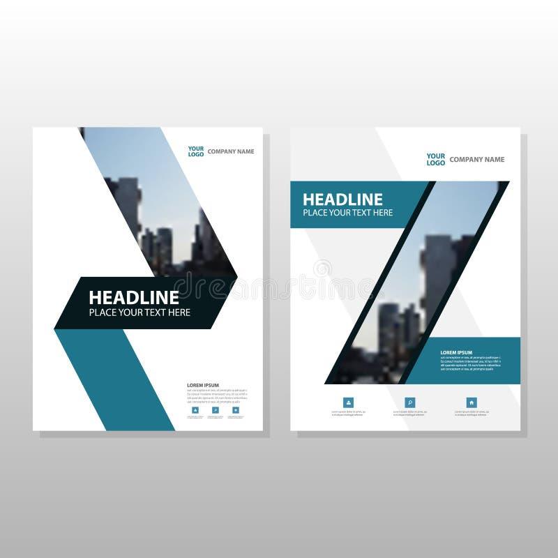 Download 蓝色年终报告传单小册子飞行物模板设计 向量例证. 插画 包括有 概念, 创造性, 文件, 干净, 平面, 钉书匠 - 72356371