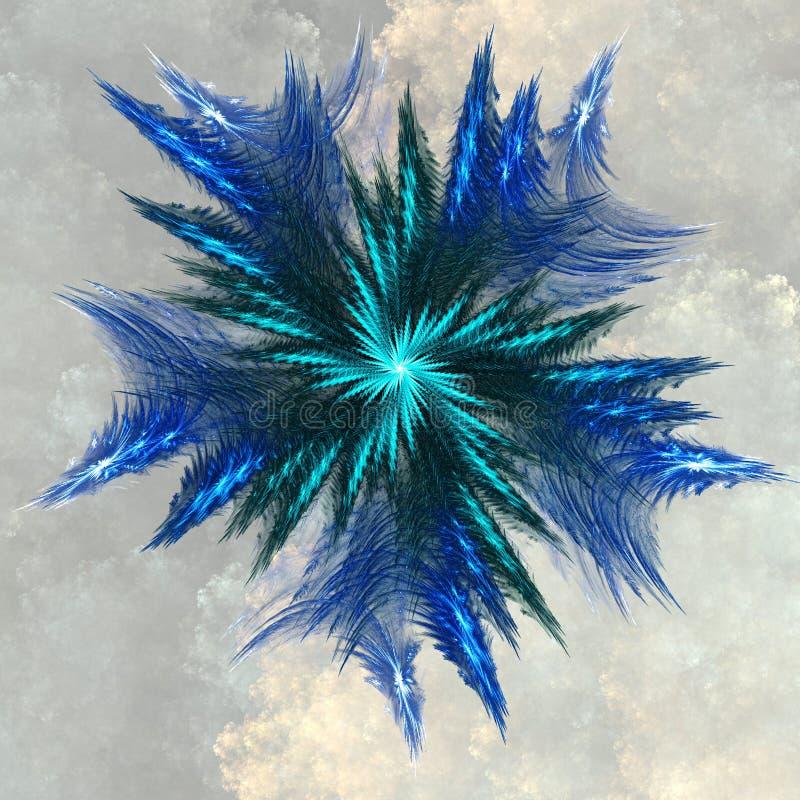 蓝色水晶 皇族释放例证
