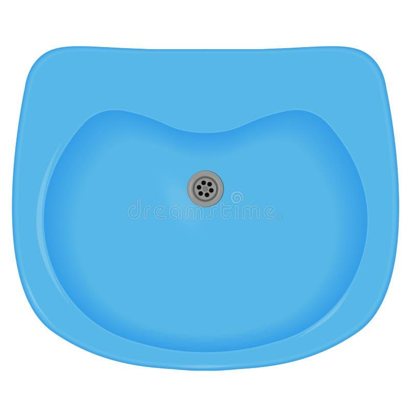 蓝色水槽 向量例证
