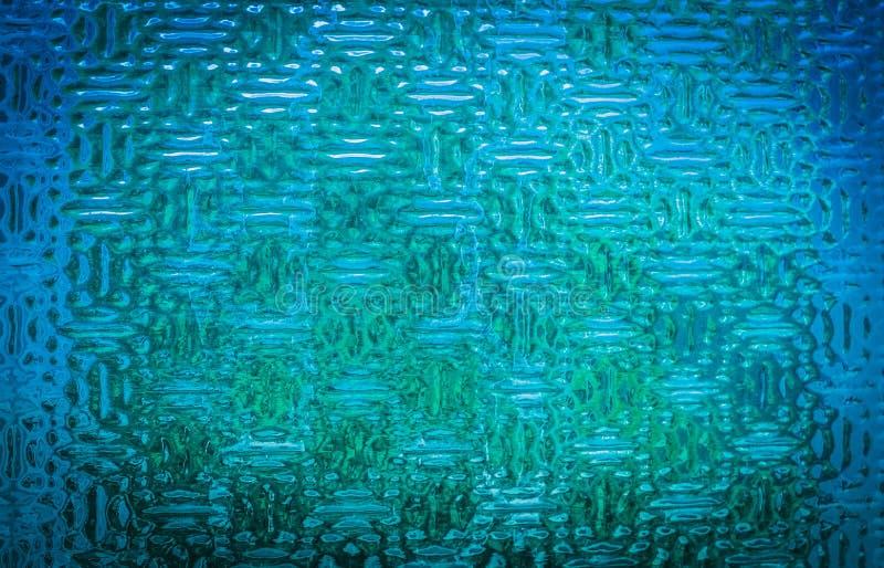 蓝色玻璃工业纹理 免版税图库摄影