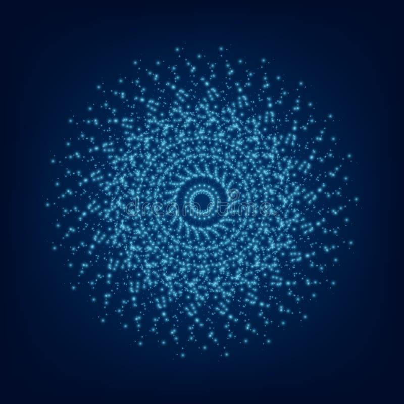 蓝色轻的坛场 抽象装饰品向量 库存例证