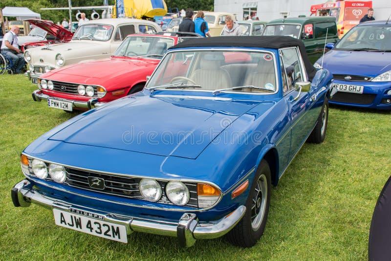 蓝色1973胜利汽车 免版税图库摄影