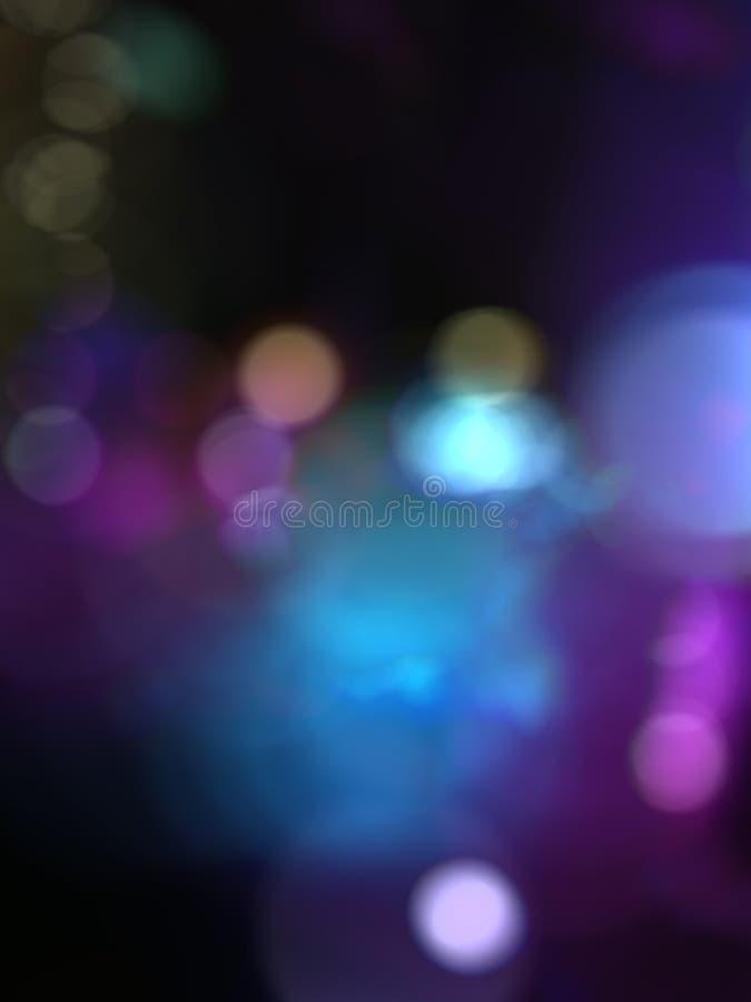 蓝色紫色迷离bokeh背景 免版税图库摄影
