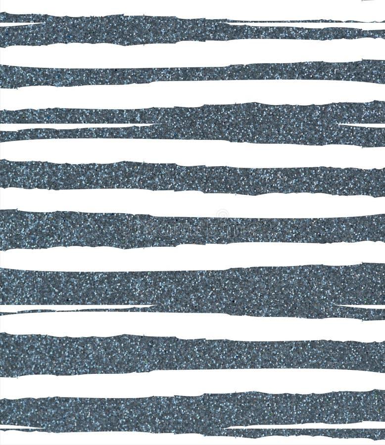 蓝色褴褛,参差不齐的闪光条纹 向量例证