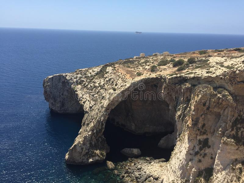 蓝色洞穴 免版税库存图片