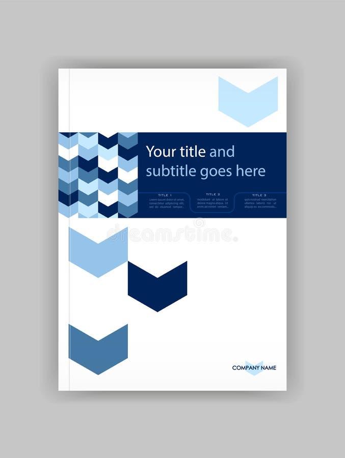 蓝色A4企业书套设计模板 有益于股份单, 皇族释放例证