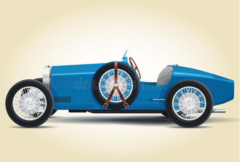 蓝色Bugatti 37A 皇族释放例证