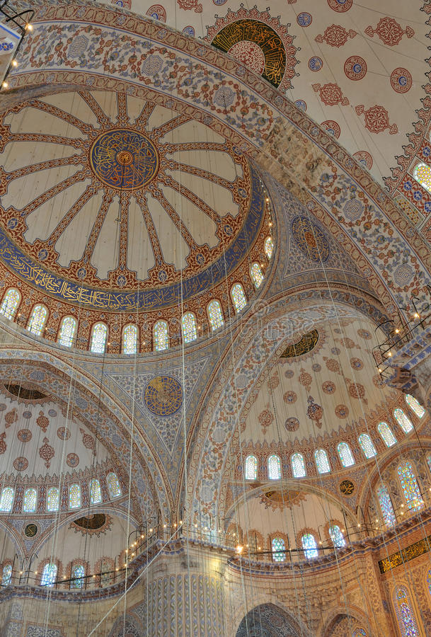 蓝色cami伊斯坦布尔清真寺sultanahmet火鸡 免版税图库摄影