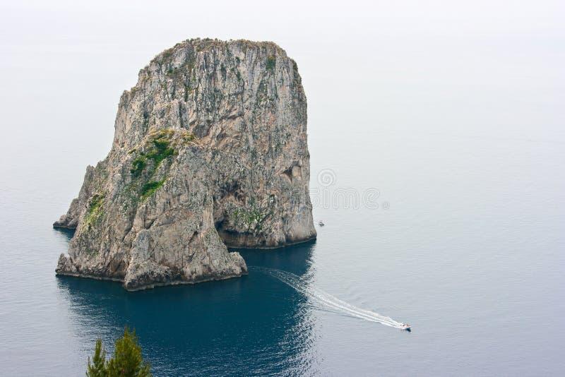 蓝色capri洞穴意大利 免版税库存照片