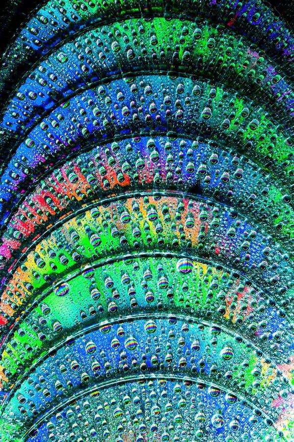 蓝色CD的光盘dvd光芒 库存照片