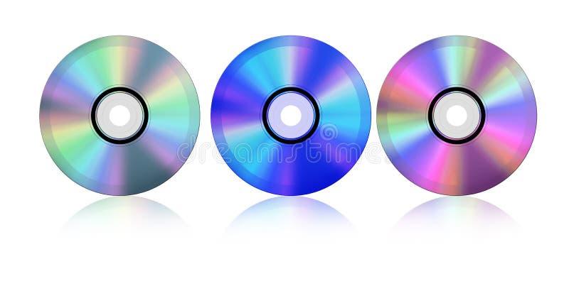 蓝色CD的光芒 向量例证
