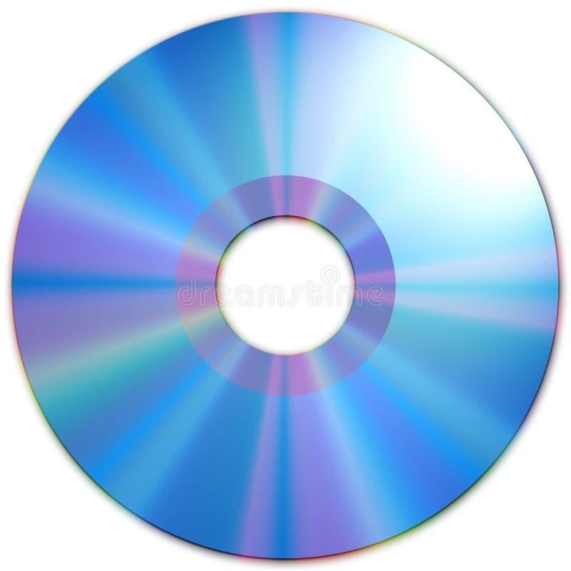 蓝色CD的媒体纹理 库存例证