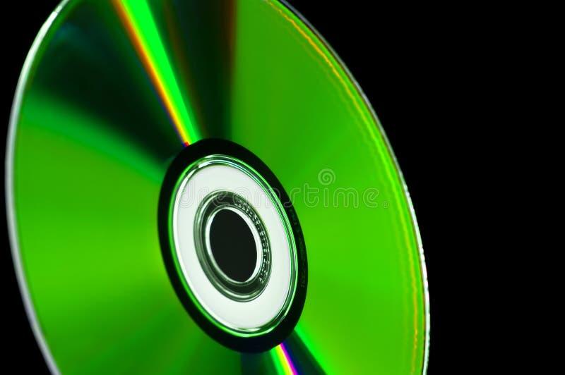 蓝色CD的计算机盘dvd光芒 免版税库存图片