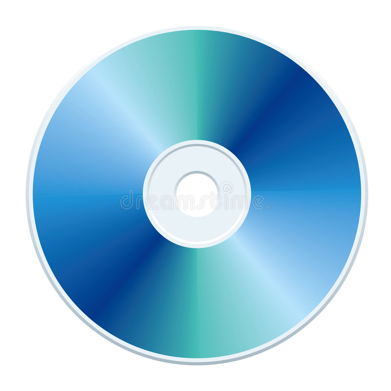 蓝色cd 皇族释放例证