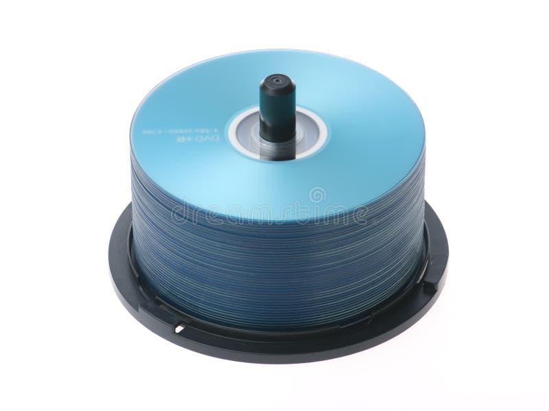 蓝色CD-ROM 库存图片