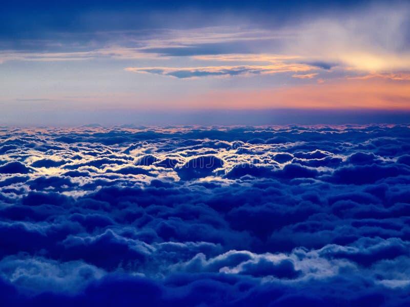 蓝色cloudscape 免版税图库摄影