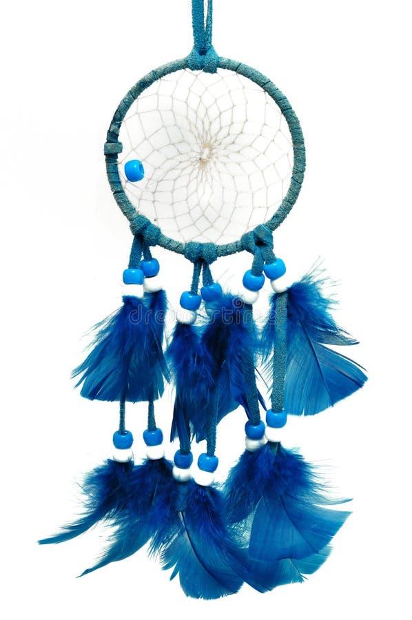 蓝色dreamcatcher 免版税库存照片