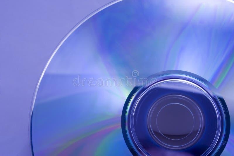蓝色dvd 库存照片
