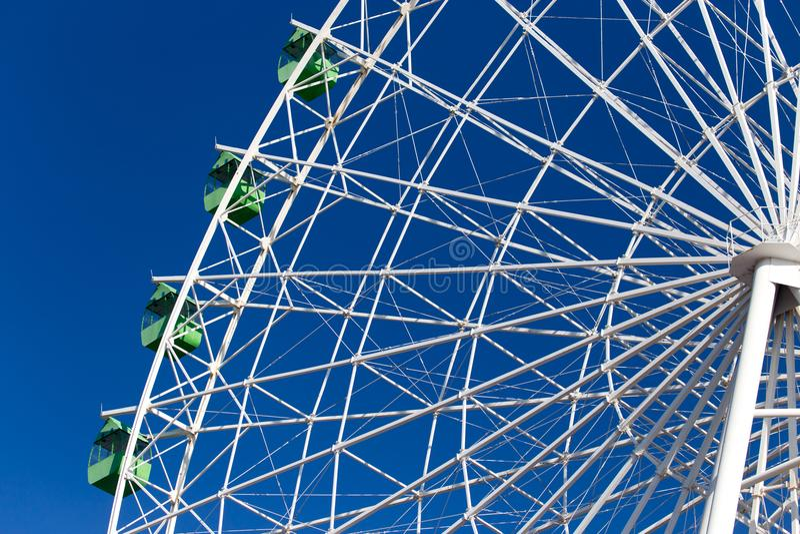蓝色ferris天空轮子 图库摄影