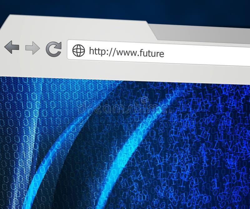蓝色Futurel浏览器 库存例证