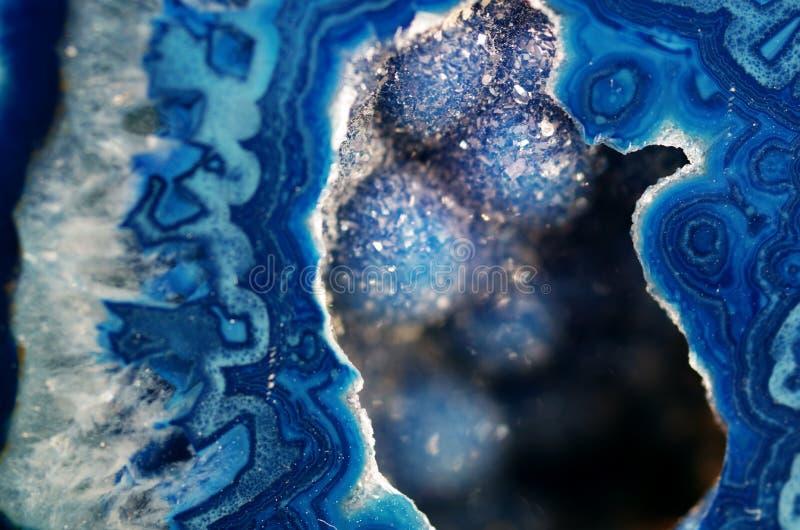 蓝色Geode宏指令 免版税库存照片