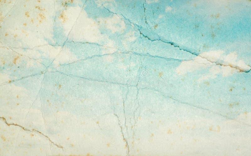 蓝色grunge天空 图库摄影