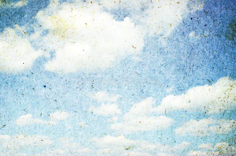 蓝色grunge天空 库存图片