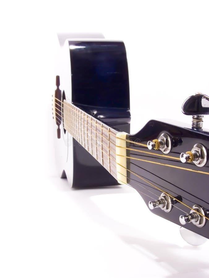 蓝色guitar2 免版税库存照片