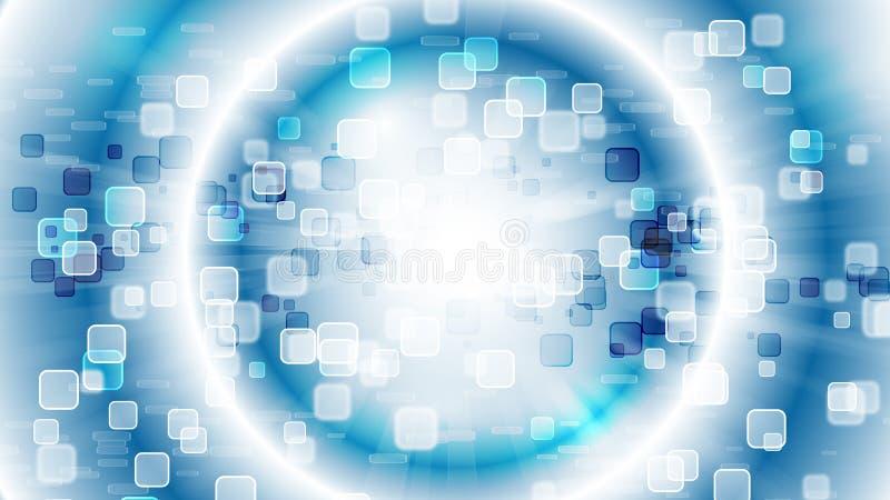 蓝色HD抽象墙纸 库存例证