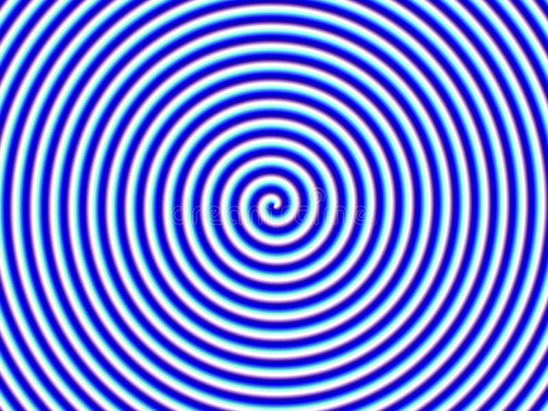 蓝色hypno幻觉光学唯一螺旋白色 向量例证