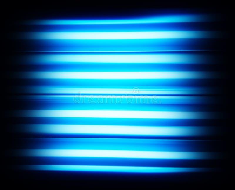蓝色scanline电视噪声没有信号背景 免版税库存照片