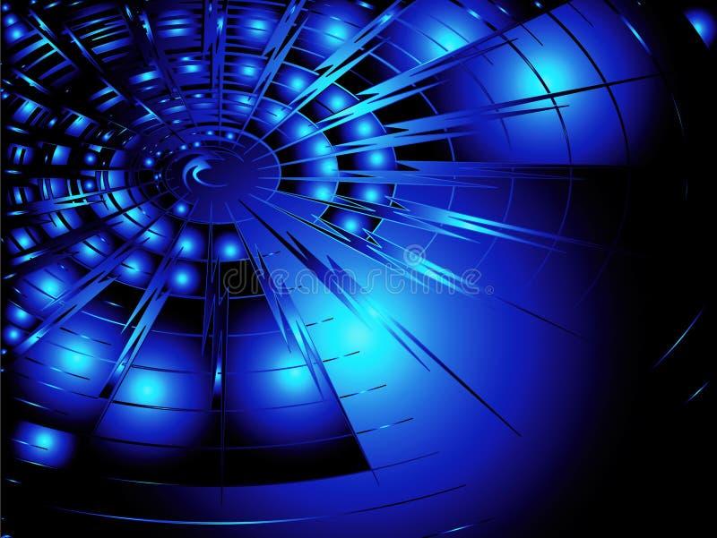 蓝色techno 向量例证