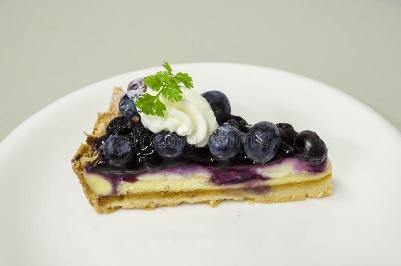 蓝莓乳酪饼 库存图片