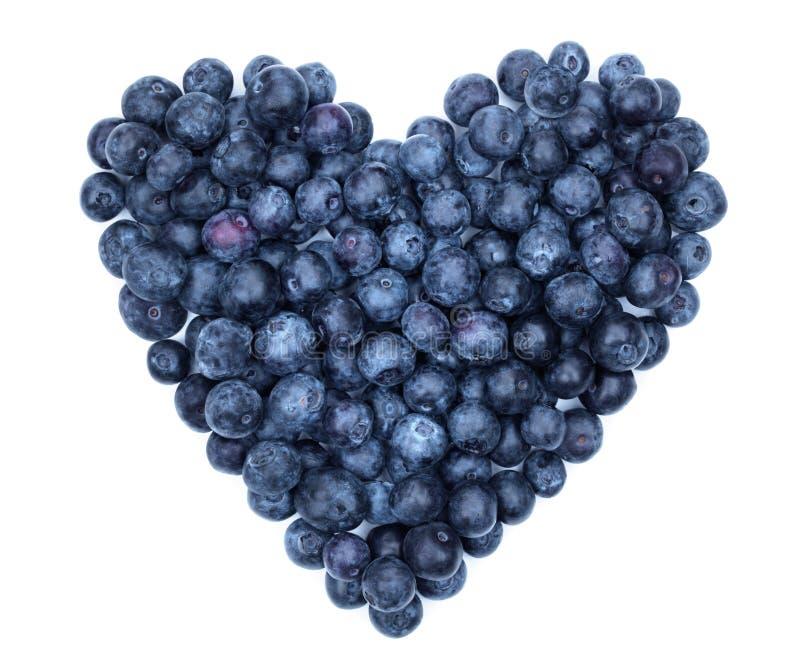 蓝莓心脏 库存图片