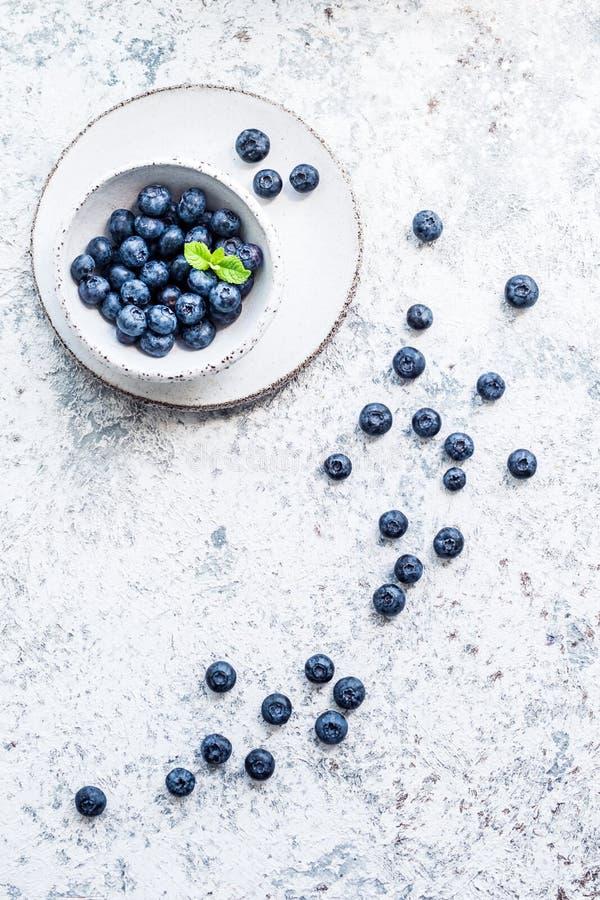蓝莓抗氧化有机superfood 免版税库存图片