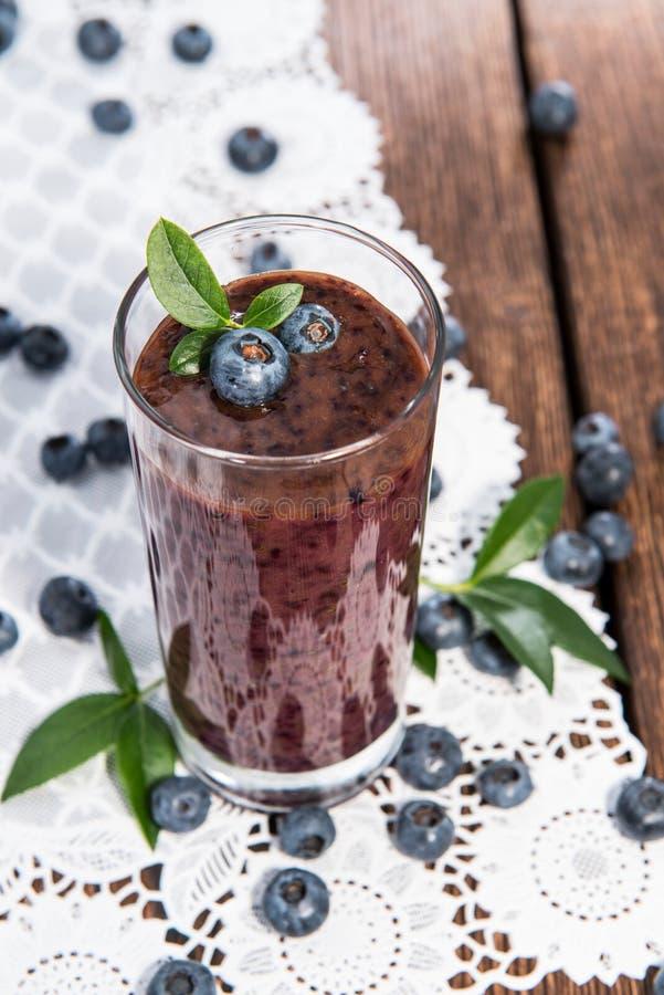蓝莓汁 库存照片