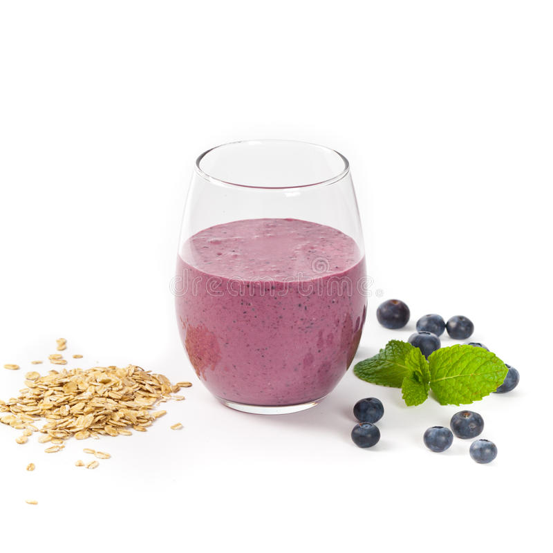 蓝莓燕麦粥圆滑的人 库存图片