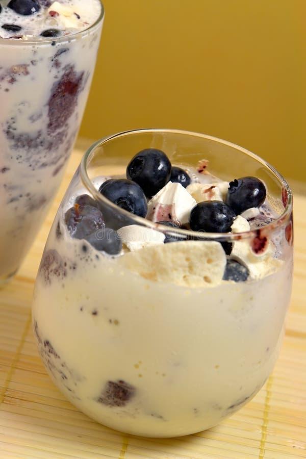 蓝莓碎屑蛋白甜饼 库存图片