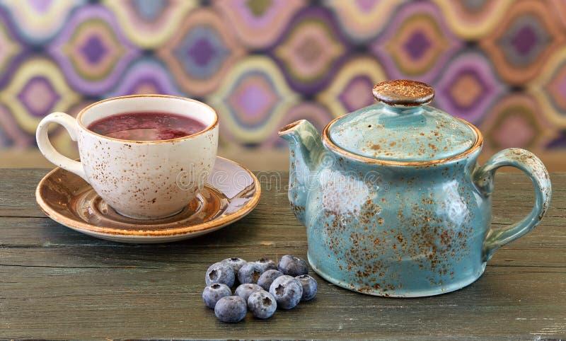蓝莓茶 免版税库存图片