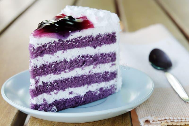 蓝莓蛋糕 免版税库存图片