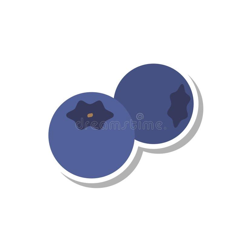 蓝莓象 向量例证