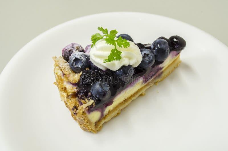 蓝莓Chees饼 库存照片