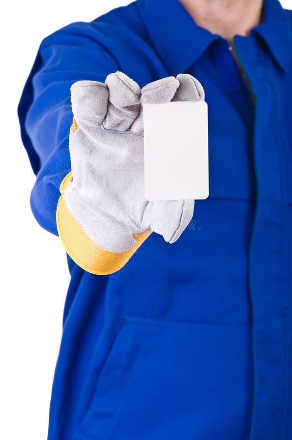 蓝领工人。 图库摄影